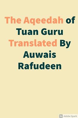 THE AQEEDAH OF TUAN GURU
